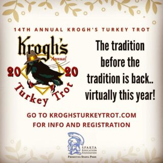 Turkey Trot Thursday is TOMORROW! If you register on any Thursday in October, you'll get 10% off your dine-in food bill at Krogh's Restaurant & Brew Pub that day! To redeem, show your server your registration confirmation with the correct date! Get registered: www.kroghtsturkeytrot.com. #keepthetraditionalive, #supportSEF, #KroghsTT2020
